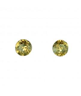 Paar Ohrstecker Modeschmuck mit Swarovski Elements Steinfarbe golden shadow 6 mm Messing rhodiniert Ohrschmuck 7,99€
