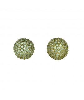 Ohrstecker 925/- echter Silberschmuck vergoldet mit Zirkonia besetzt ca. 9 mm Ohrschmuck 29,99€