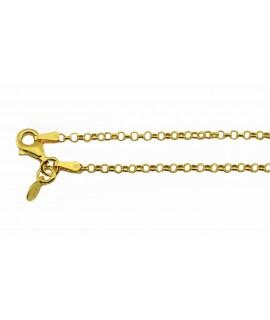 Silberschmuck Rollokette vergoldet 70 cm 925 Sterlingsilber Halsschmuck 19,99€