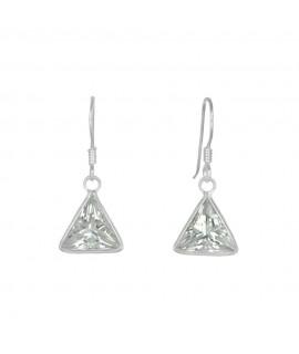 Ohrhänger 925/- echter Silberschmuck mit Zirkonia kristall ca. 10mm Ohrschmuck 18,99€