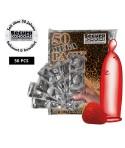 50er-Beutel rote Secura Color-Kondome mit Aroma und Erdbeergeschmack Fundgrube 14,99€