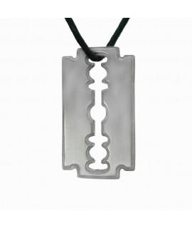 Edelstahlschmuck Anhänger Raziermesser, leuchtet im Dunkeln aus Edelstahl 3,7 x 2,1 cm Magic&Mystik&Metal 14,99€