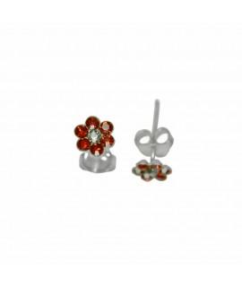 Ohrstecker Blume rot 925er Silber Durchmesser ca. 5 mm Ohrschmuck 4,99€