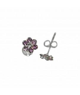 Ohrstecker Blume violett flieder 925er Silber Durchmesser ca. 5 mm Ohrschmuck 4,99€