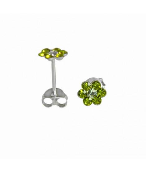 Ohrstecker Blume grün 925er Silber Durchmesser ca. 5 mm Ohrschmuck 4,99€