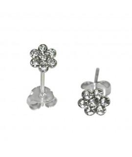 Ohrstecker Blume kristall 925er Silber Durchmesser ca. 5 mm Ohrschmuck 4,99€