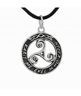 Silberschmuck Anhänger Keltische Triskele 925 Sterling-Silber Ø 2,2 cm Magic&Mystik&Metal 19,99€