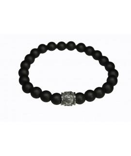 """Armband """"Power Bracelet"""" Glasperlen mit Edelstahl ca. 18 cm Arm&Finger 12,99€"""