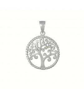 Silberschmuck Lebensbaum mit Zirkonia ca. 25 mm 925 Sterlingsilber Halsschmuck 29,99€