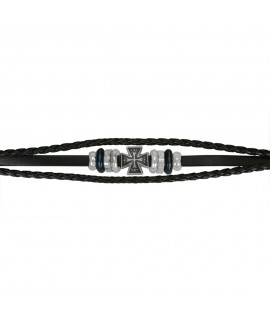 Armschmuck Eisernes Kreuz Leder und Metall (nickelfrei) ca. 21 cm Arm&Finger 9,99€