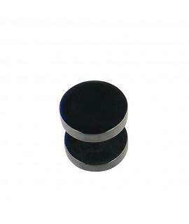 Fakeplug schwarz Durchmesser 10 mm Chirurgenstahl 316L 1,2 mm Stablänge: 6 mm Piercing 5,99€