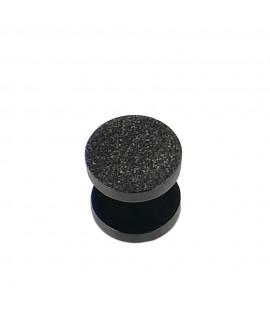 Fakeplug schwarz Diamantoptik Durchmesser 10 mm Chirurgenstahl 316L 1,2 mm Stablänge: 6 mm Piercing 6,99€