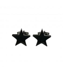 Edelstahl-Stecker Stern PVD-Beschichtungen: schwarz Durcmesser ca. 9 mm Ohrschmuck 5,99€