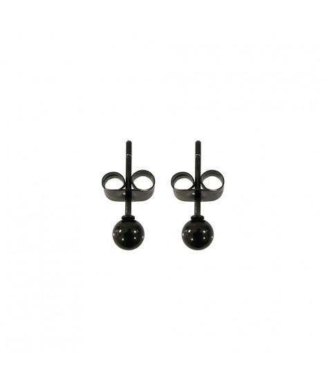 Edelstahl Ohrstecker rund PVD-Beschichtung: schwarz Durchmesser ca. 3 mm Ohrschmuck 5,99€