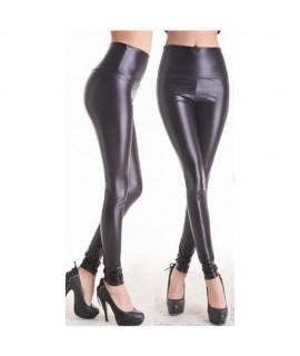 Leggings im Wetlook in Schwarz One Size (S-L) schwarz 90 % Nylon / 10 % Elastan Mode 25,99€