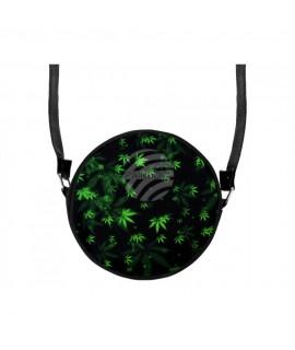 Runde Motiv-Handtasche Design: Hanf mit Trageriemen ca. 17 cm 100% Polyester Mode 9,99€