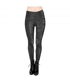 Leggings Design:Text Farbe: schwarz 90% Polyester, 10 % Elastan Mode 17,99€