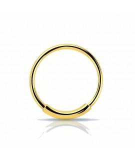 Nasenring 10mm Außendurchmesser Silber vergoldet Piercing 2,99€