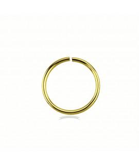 Segmentring 8mm Außendurchmesser vergoldet Piercing 1,99€