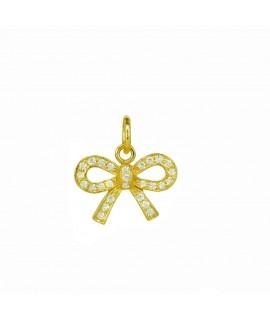 Silberschmuck Anhänger Schleife goldfarben 925 Sterlingsilber Halsschmuck 19,99€