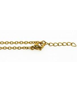 Edelstahlschmuck Kette in Gold Stärke: 2 mm Länge: 42 cm, mit Verlängerungskette 3 cm Halsschmuck 16,99€