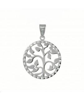 Edelstahlschmuck PVD-Beschichtung: Silber Durchmesser: ca. 30mm mit 28 Zirkonia Halsschmuck 25,99€
