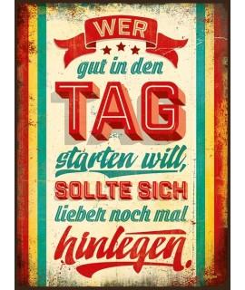 Tag Blechschild, Material: Eisen, Format: 26cm x 35cm Fundgrube 13,99€