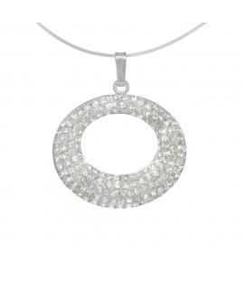 Collier Edelstahlschmuck, Glassteine kristall Sehne 41 + 4,5 cm Halsschmuck 17,99€ -25%