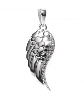 """Collier """"Flügel"""", 925/ -echter Silberschmuck, rhodiniert, mit Zirkonia Halsschmuck 27,99€"""