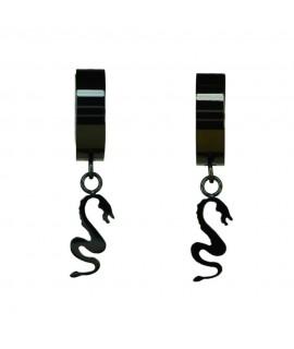 Edelstahlschmuck Creole Drache schwarz beschichtet ca. 1,3 x 0,4 cm Magic&Mystik&Metal 11,99€